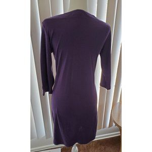 Karen Scott Dresses - Karen Scott Sports, Lilac Dress Boat Neck